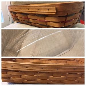TWO LONGABERGER BREAD BASKETS WITH PLASTIC LINER